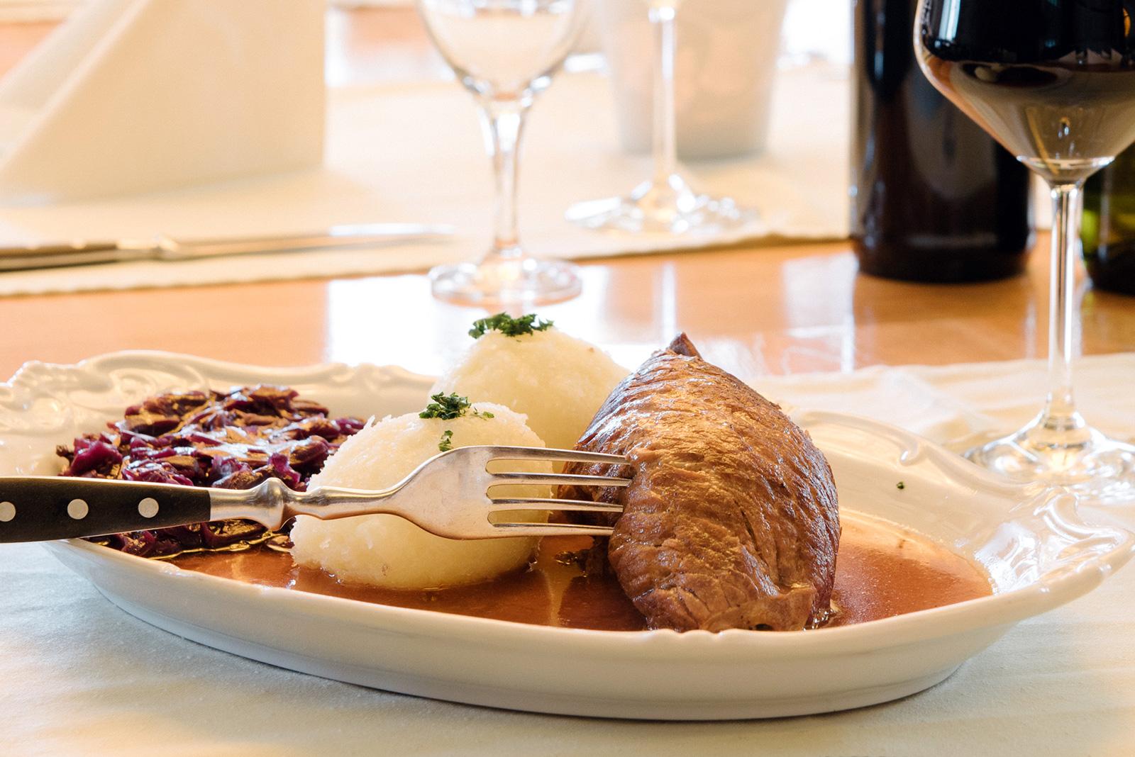 Restaurant Sächsischer Hof Weimar - Roulade und Klöße
